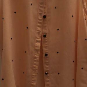 Button up sleeveless shirt